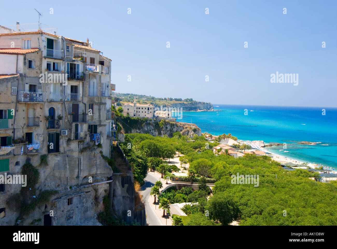 stadt von tropea kalabrien italien am mittelmeer stockfoto bild 14853432 alamy. Black Bedroom Furniture Sets. Home Design Ideas