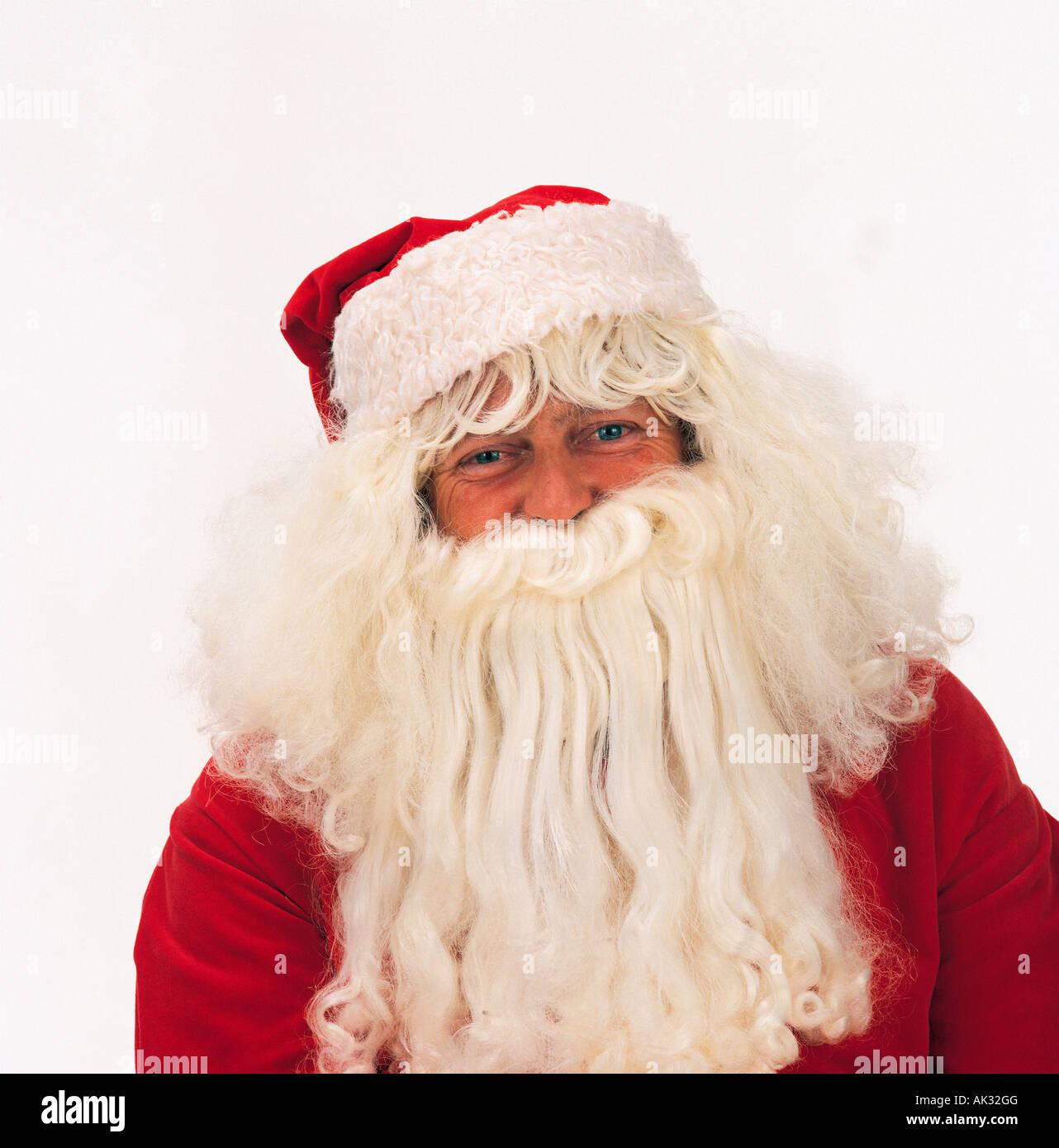 Close-up-Studio-Porträt des Weihnachtsmanns / Santa Claus. Stockbild