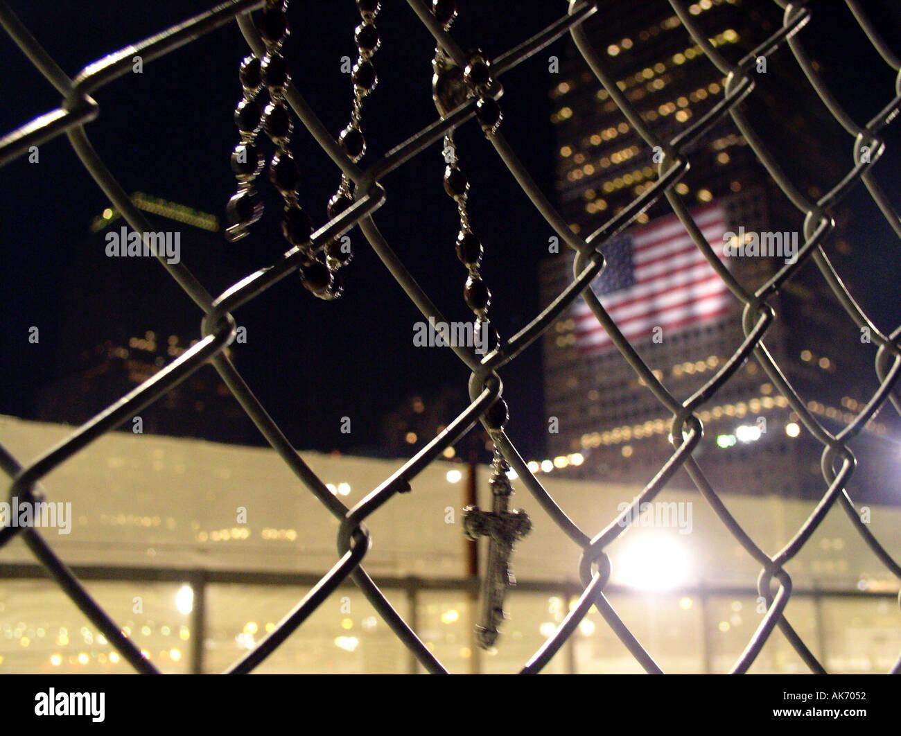 Tribut der Lichter 2003 WTC New York, NY Downtown New York World Trade Center © Mak Stockbild