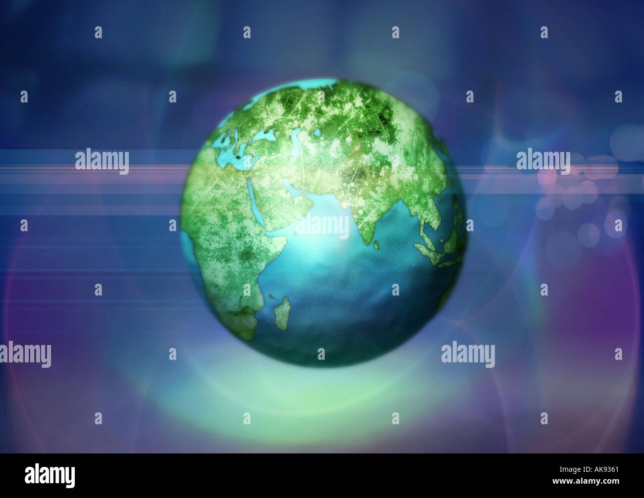 Welt 2 Stockbild