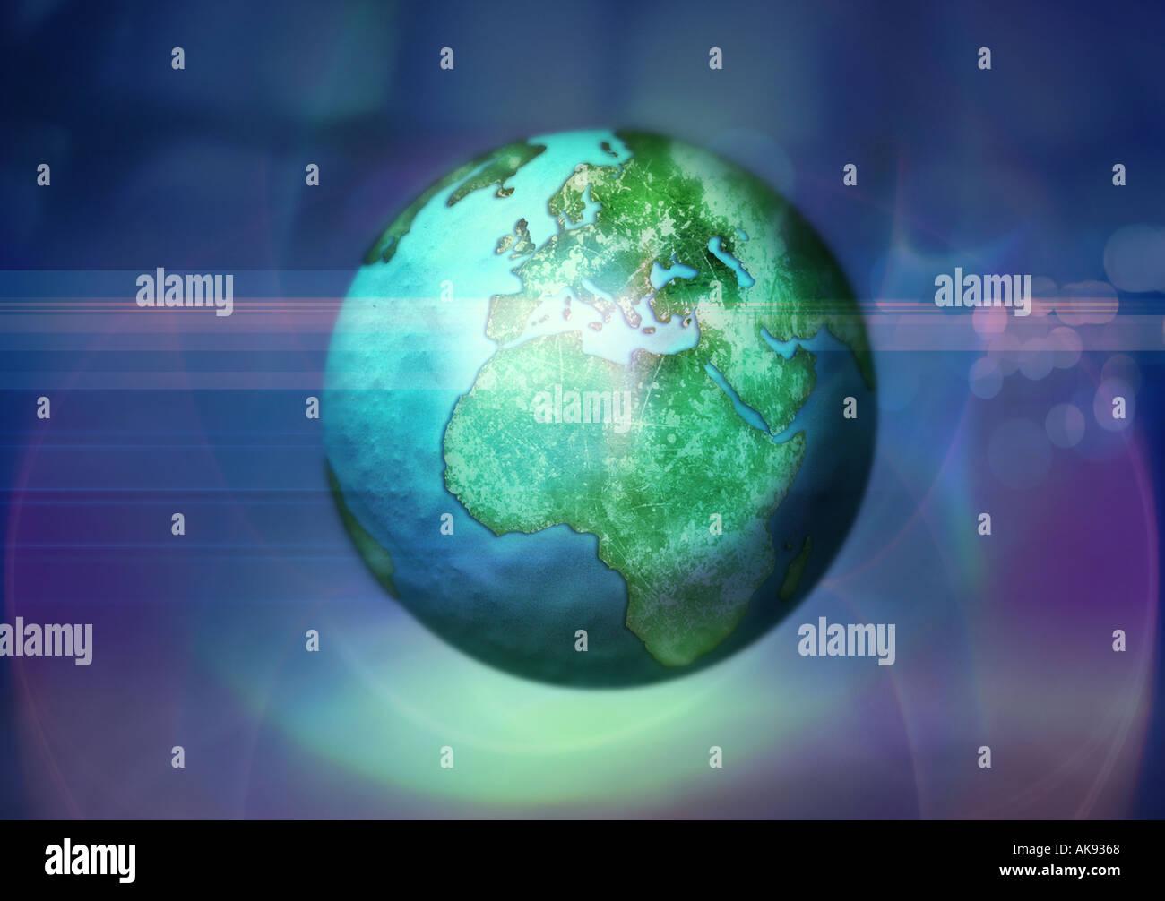 Welt 3 Stockbild