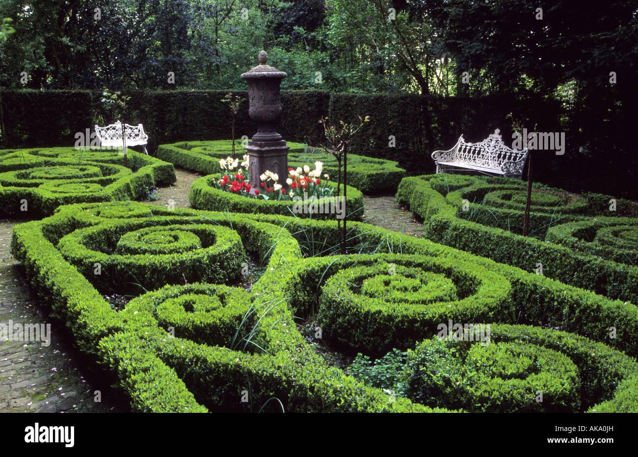 Aarsveld Holland Knoten Garten Im Frühjahr Boxwood Hecken