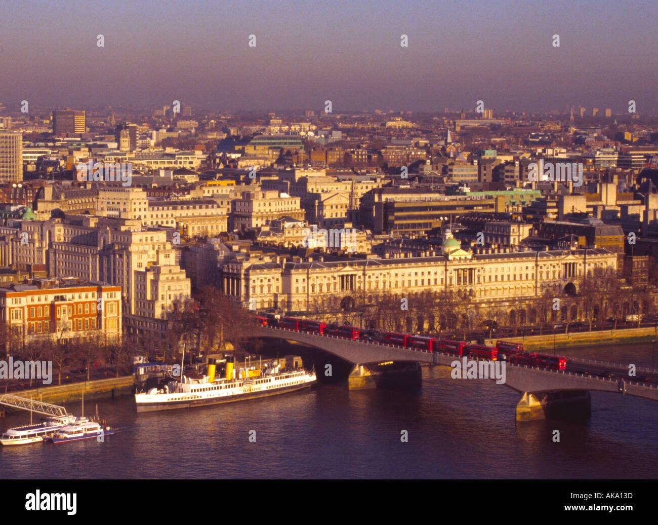 Blick vom London Eye. Stockfoto
