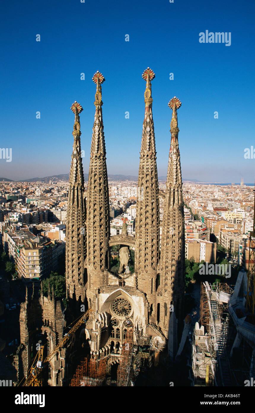 Kathedrale La Familia Sagrada, Barcelona, Spanien Stockfoto, Bild ...
