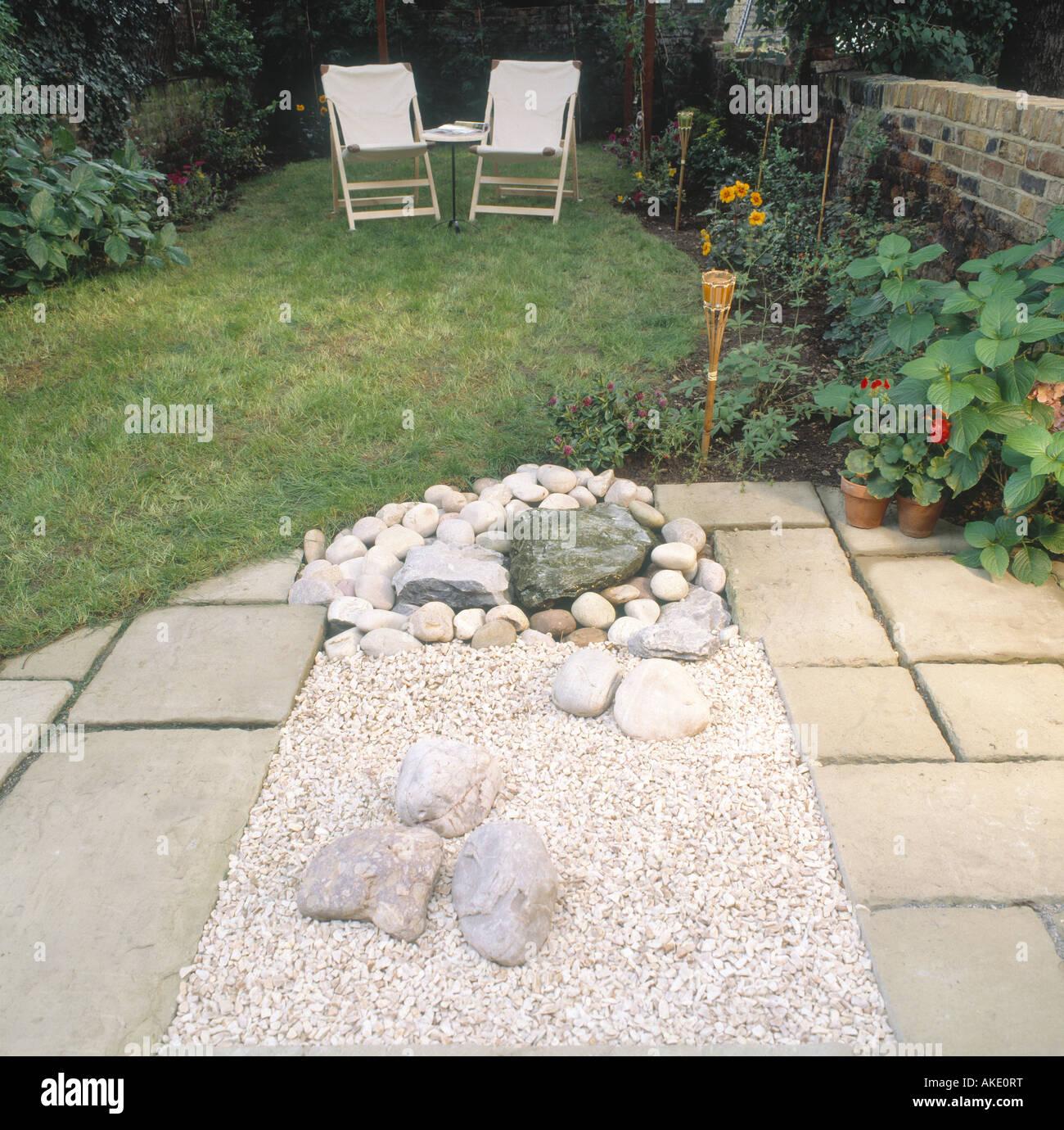 Kleinen Garten Hinter Dem Haus Sequenz London Patio Stein