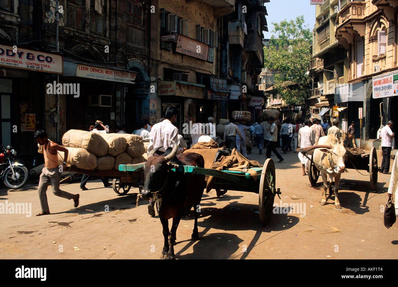 Indien, Mumbai, Strassenszene Stockbild