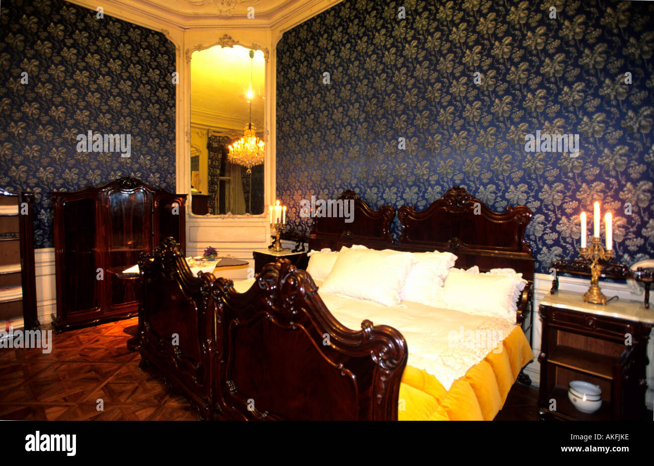 Schloss Schönbrunn, Gemeinsames Schlafzimmer des Kaiserpaares ...