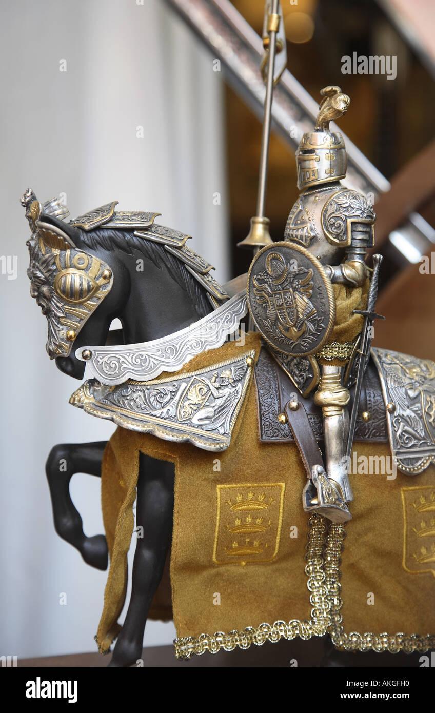 Typische Rüstungen aus Toledo, Kastilien-La Mancha, Spanien Stockbild