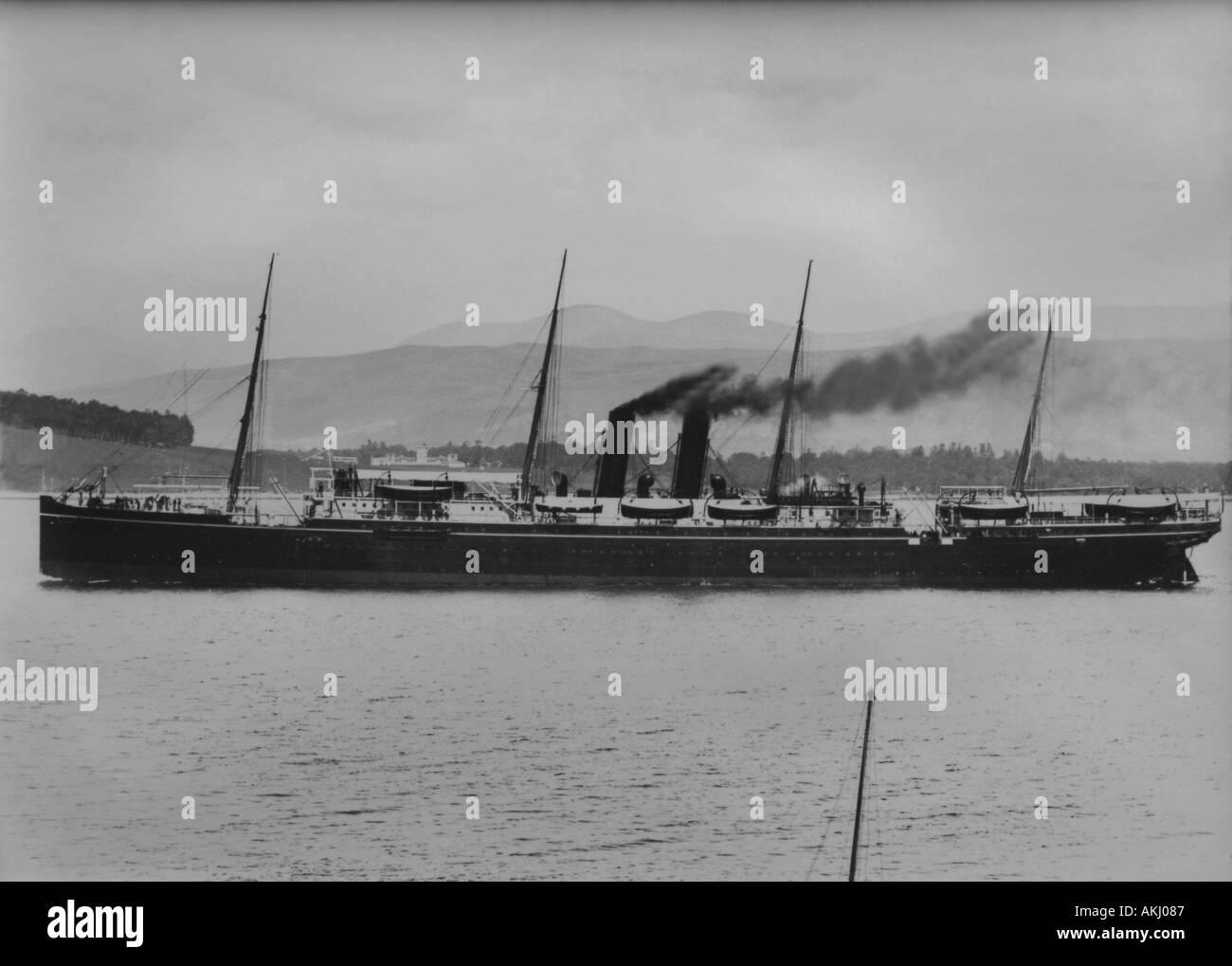 UK Schottland Firth of Clyde aus Greenock SS Himalaya fotografiert 16 6 1892 Stockbild