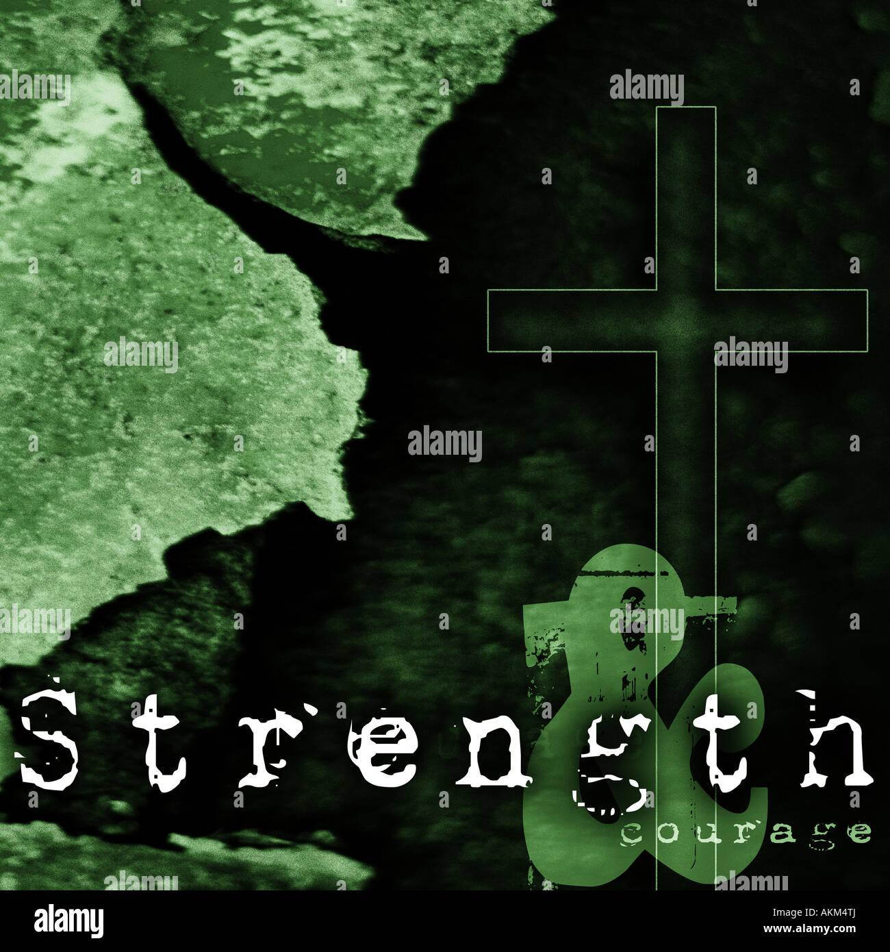 Kraft und Mut Computer generierte Abbildung Stockbild