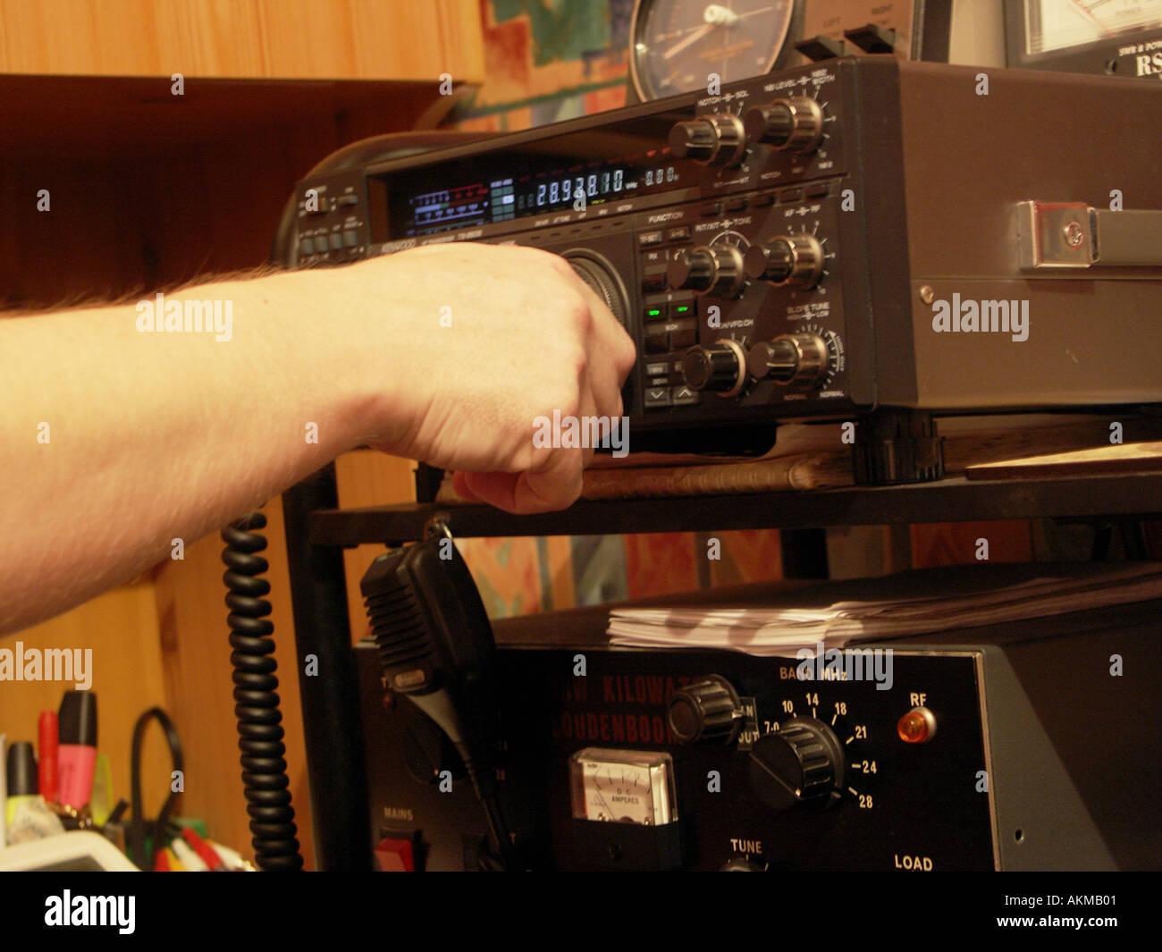 Operativen Ham Radio Equipment.An Amateur-Setup in einem ...