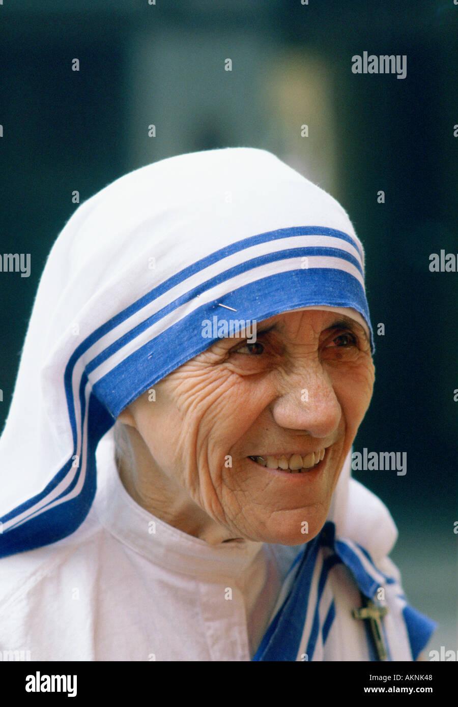 Mutter Teresa von Kalkutta Indien Stockfoto