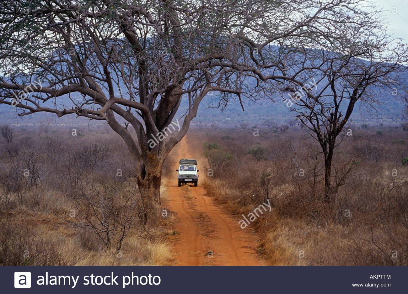 Geländewagen in Kenia Stockbild
