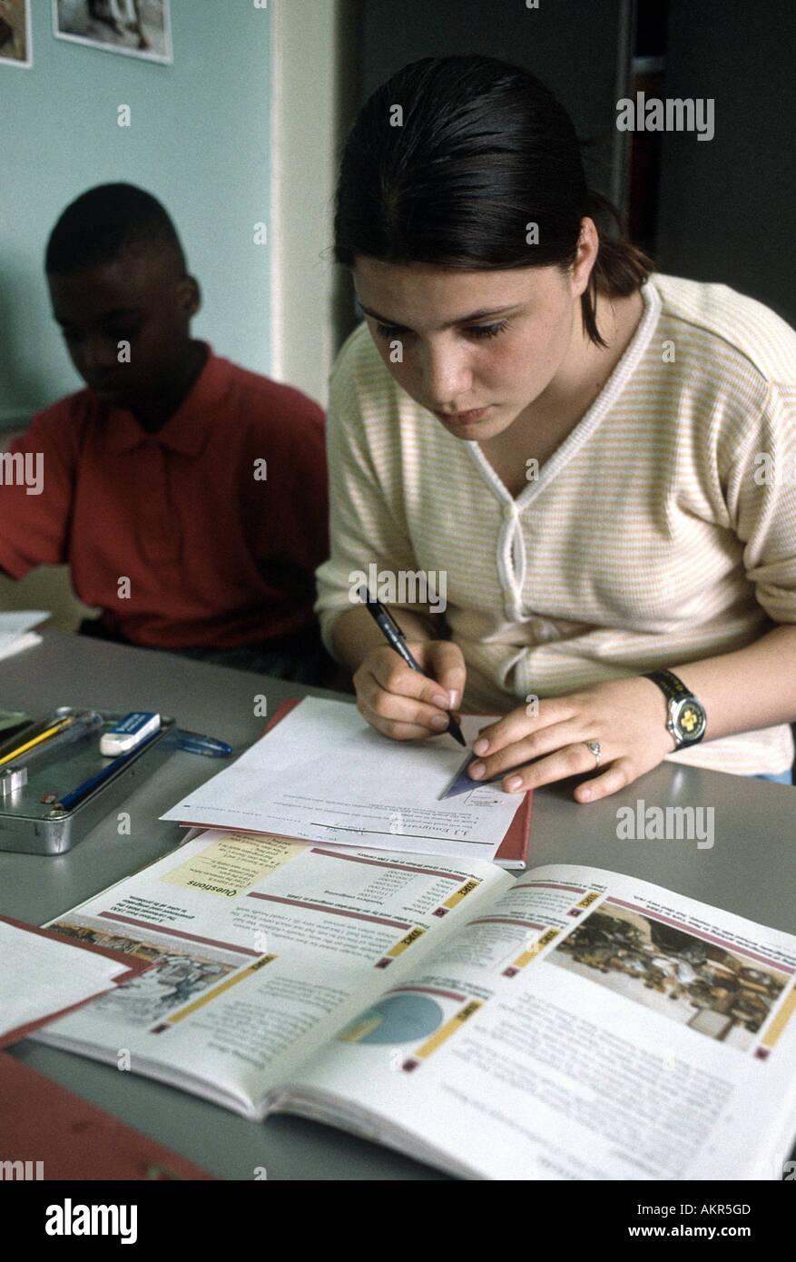 Mittelschule Erdkundeunterricht Stockbild