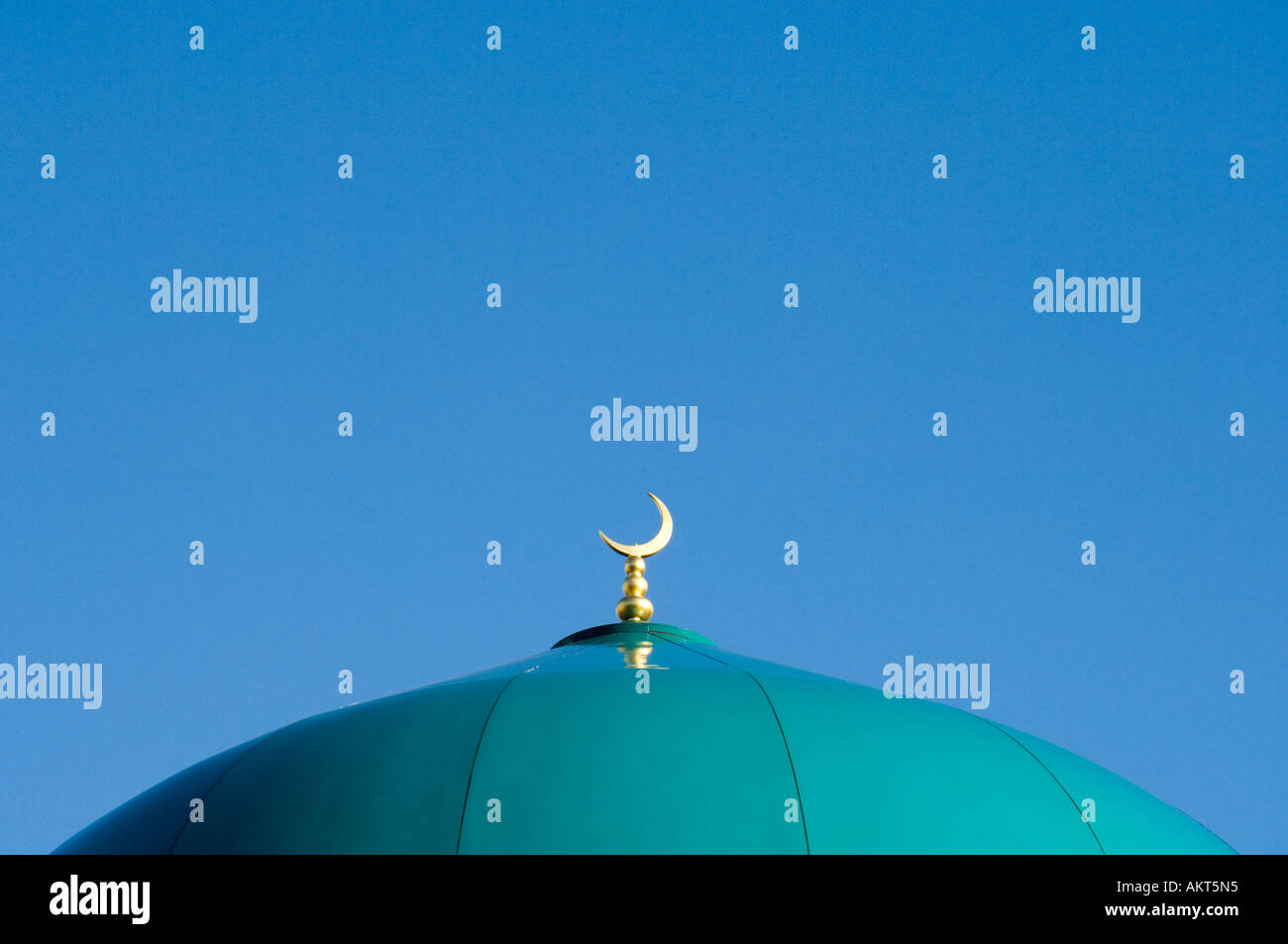 Dach der Moschee Sheffield Stockbild