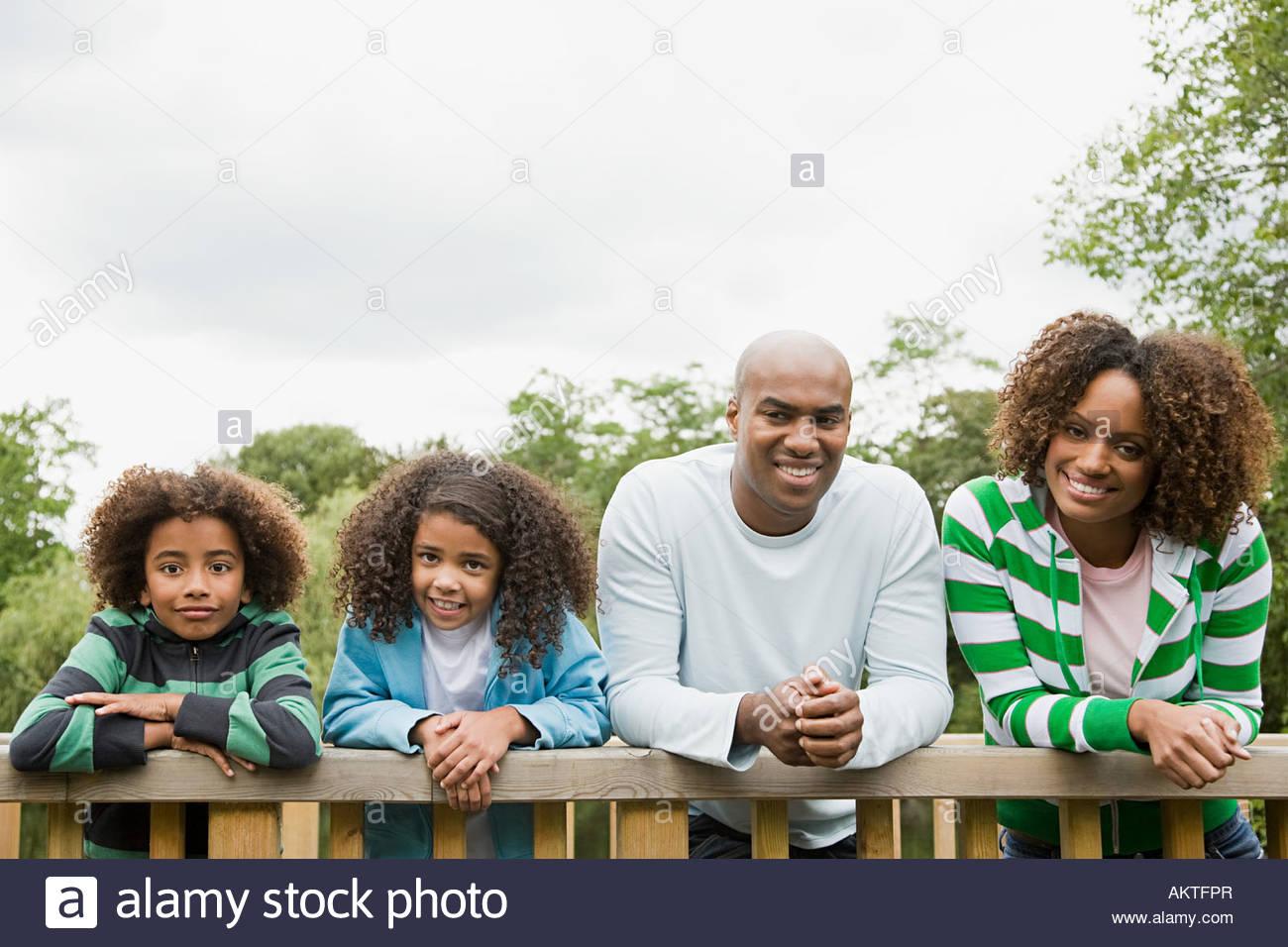 Familie im park Stockbild