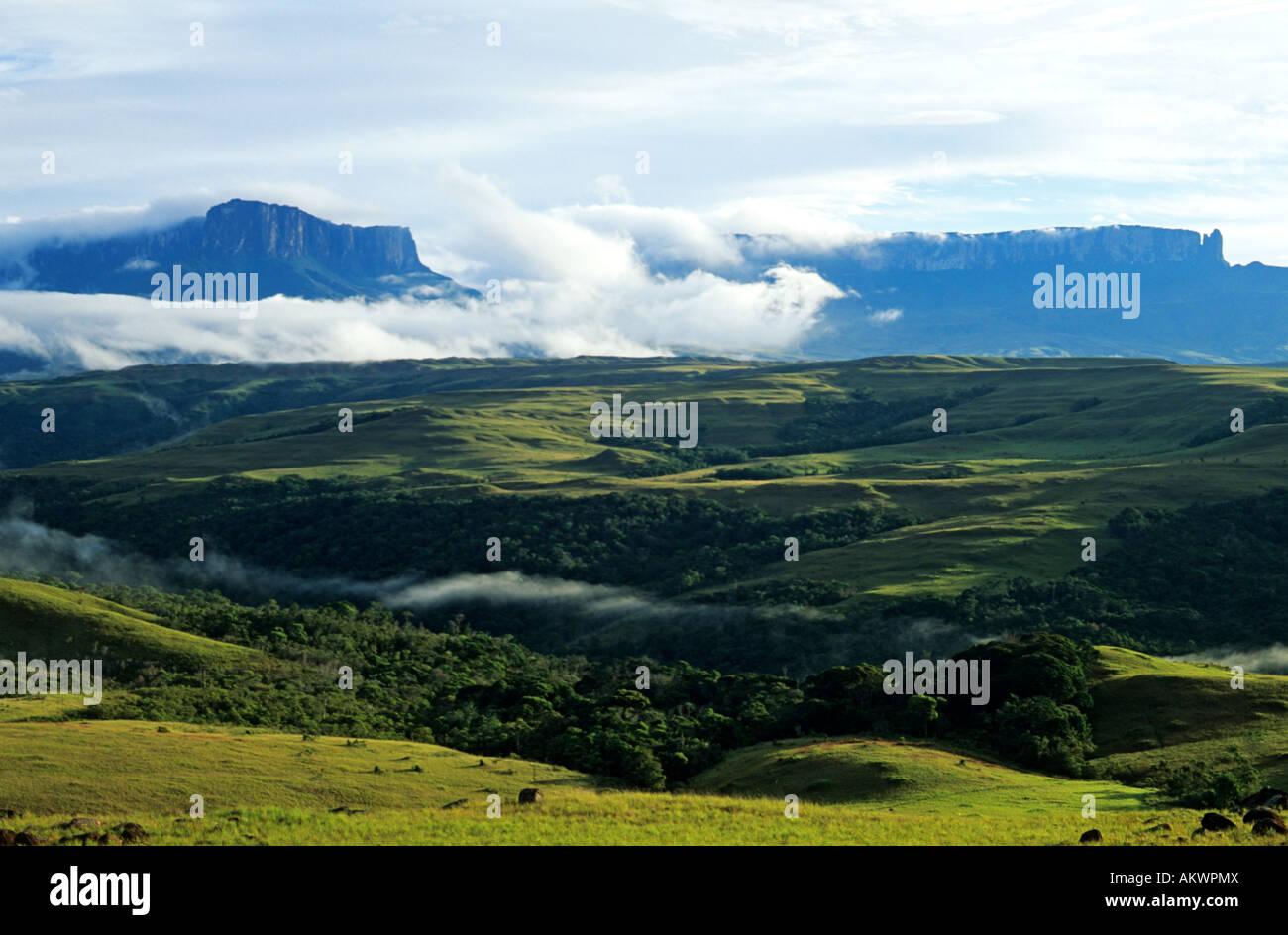Venezuela Gran Sabana Panorama Auf Tepuis Roraima Berge Und