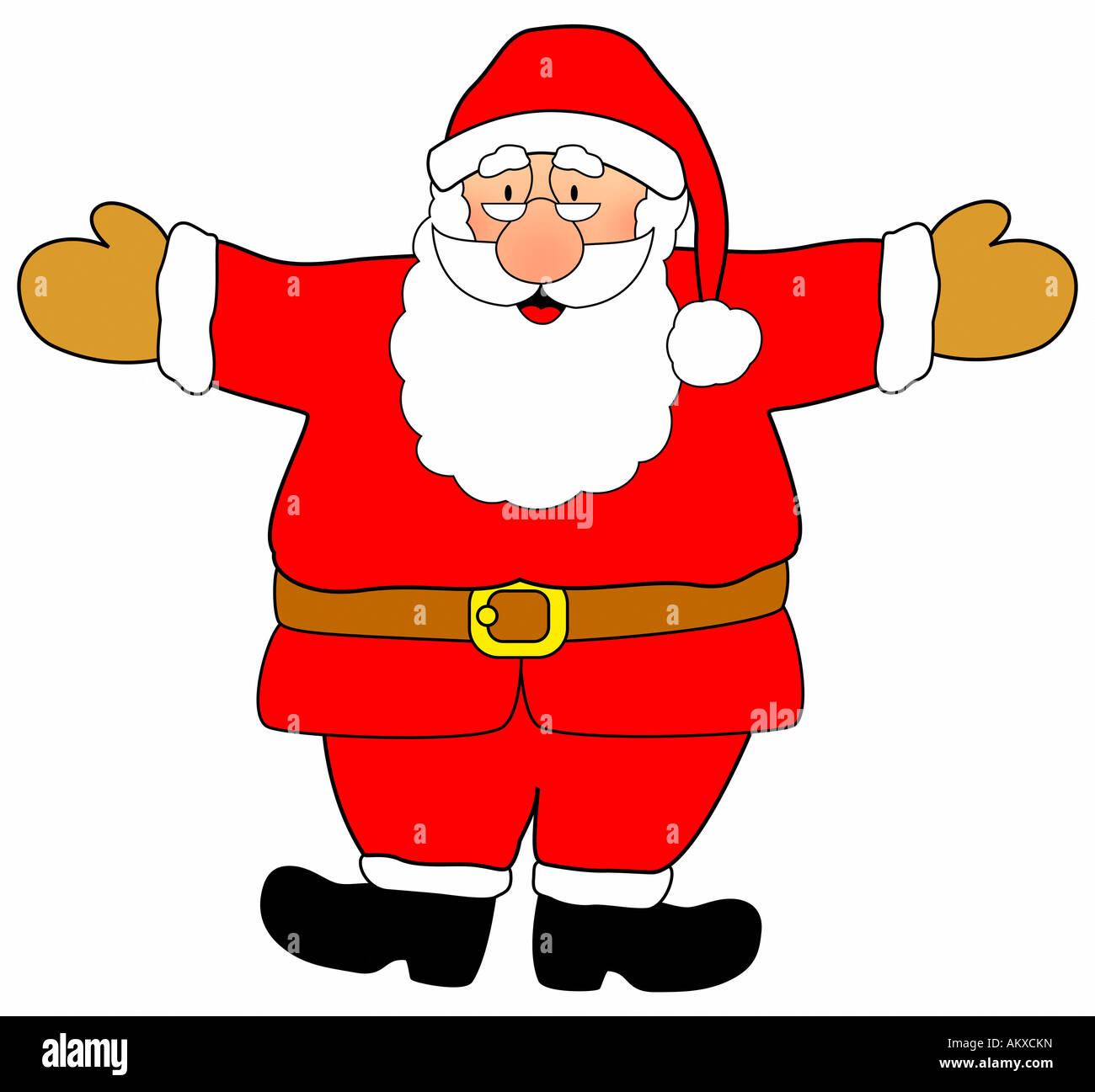 Frohe Santa Claus, Abbildung Stockbild