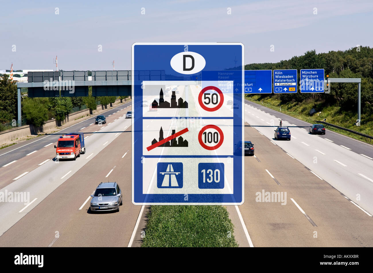 autobahn signs germany stockfotos autobahn signs germany. Black Bedroom Furniture Sets. Home Design Ideas