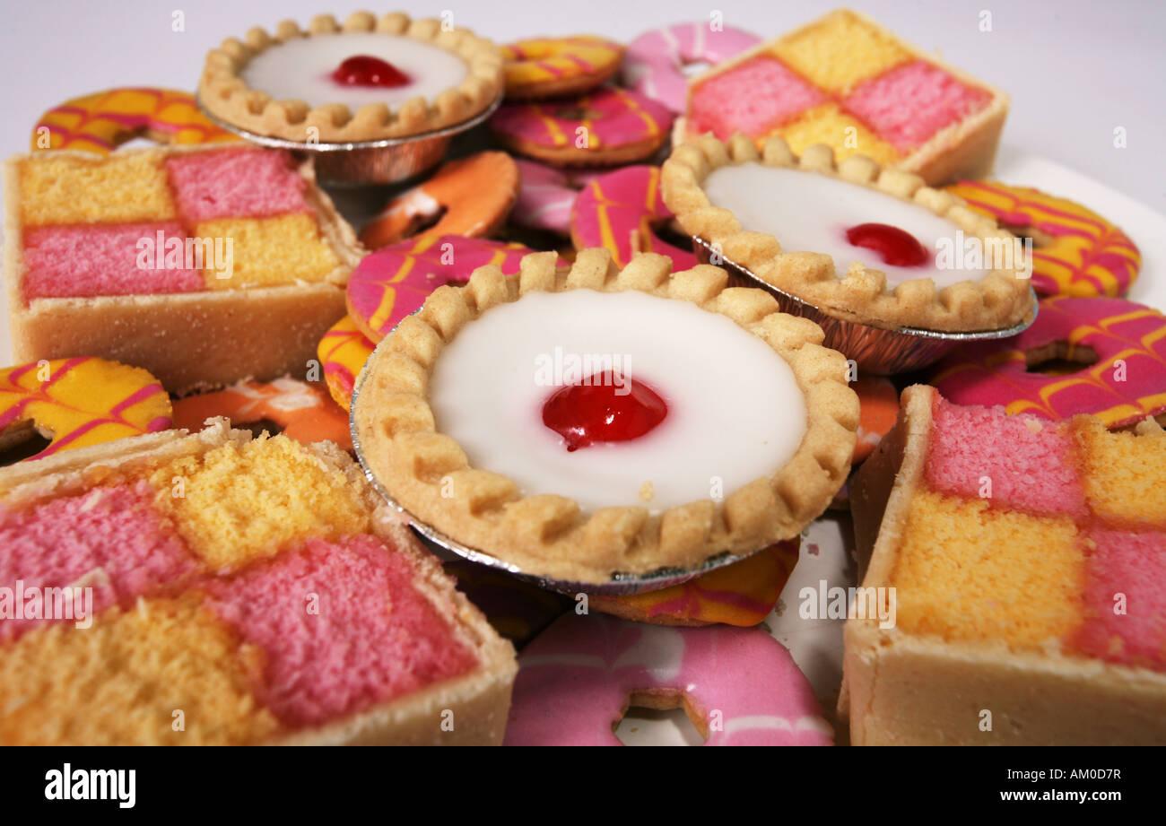 Retro-Kuchen Kuchen Wüste Süßigkeiten Konservierungsstoffe Färbung ...