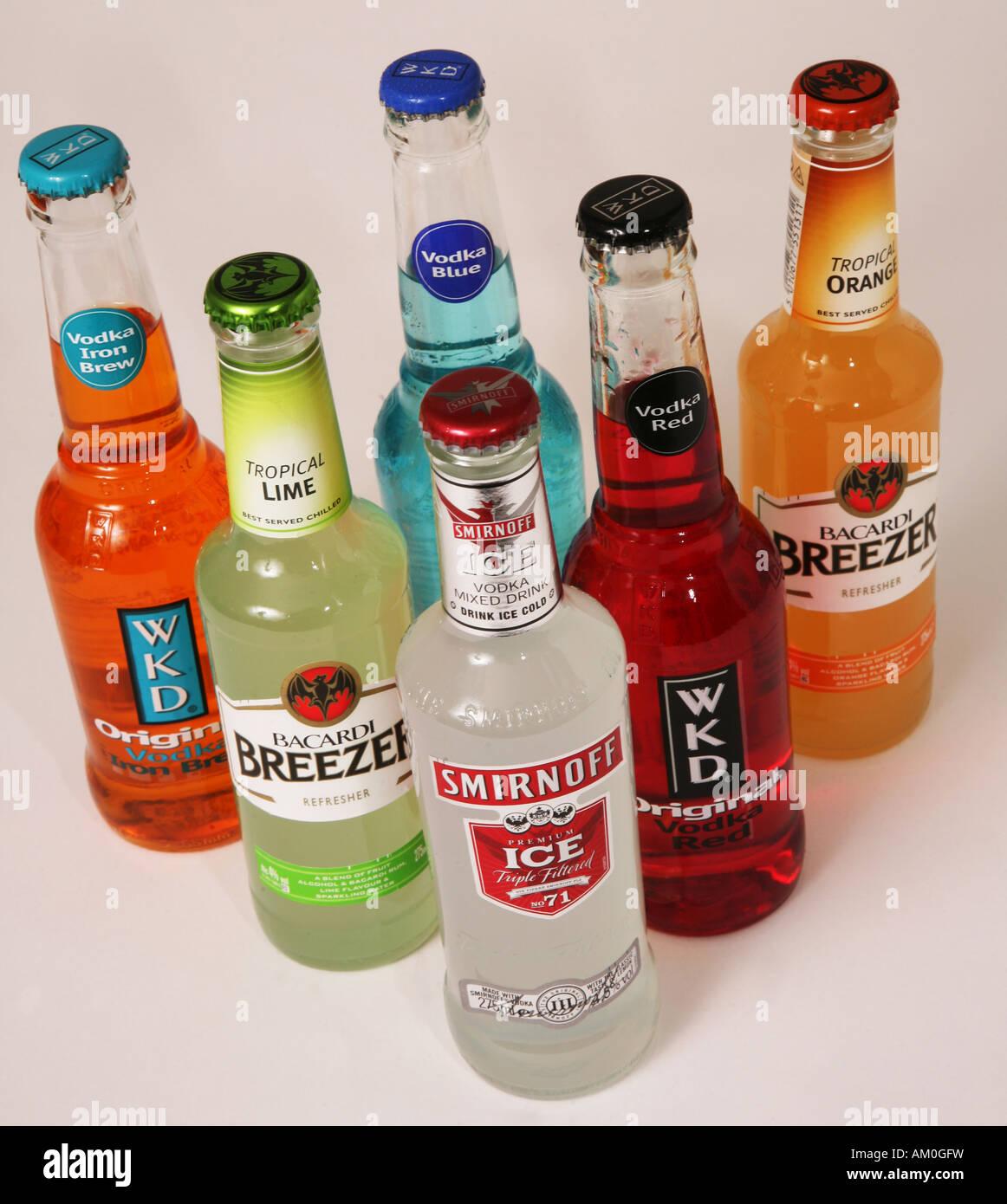 Alkopops Alcopops Smirnoff Ice Wkd Breezer Teen trinken