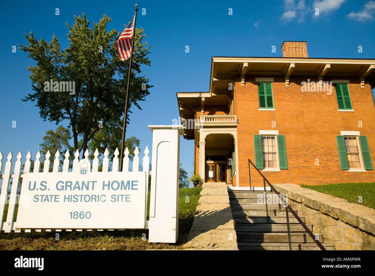 ILLINOIS Galena Ulysses S Grant Home historische Stätte Backstein ...