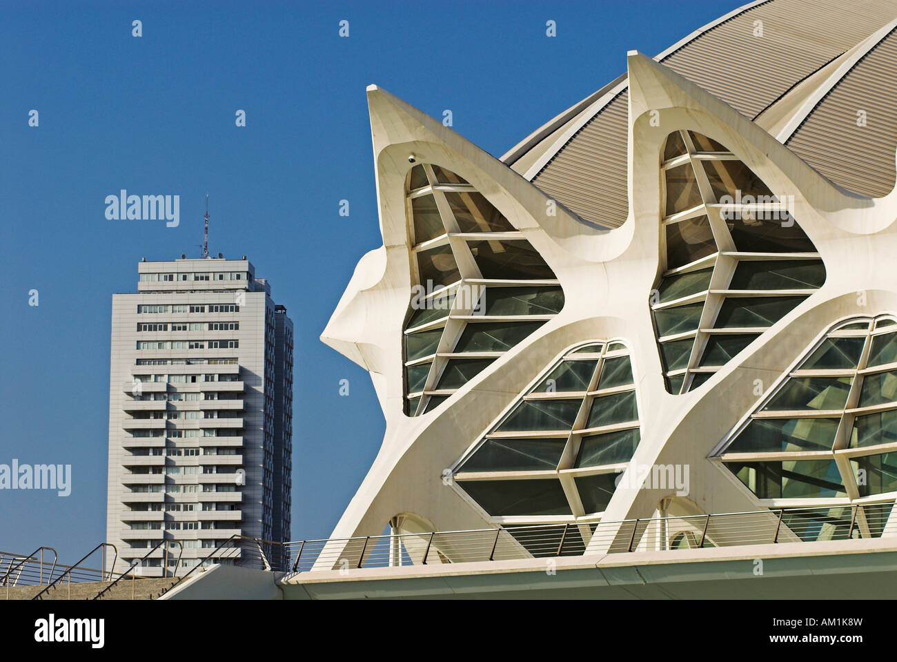 Science Museum Príncipe Felipe in der Stadt der Künste und Wissenschaften, Stadt von Valencia, Spanien, Europa Stockfoto
