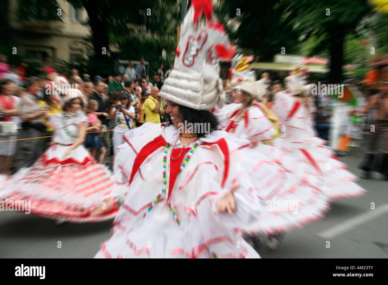 Karneval der Kulturen, Kreuzberg, Berlin, Deutschland Stockbild