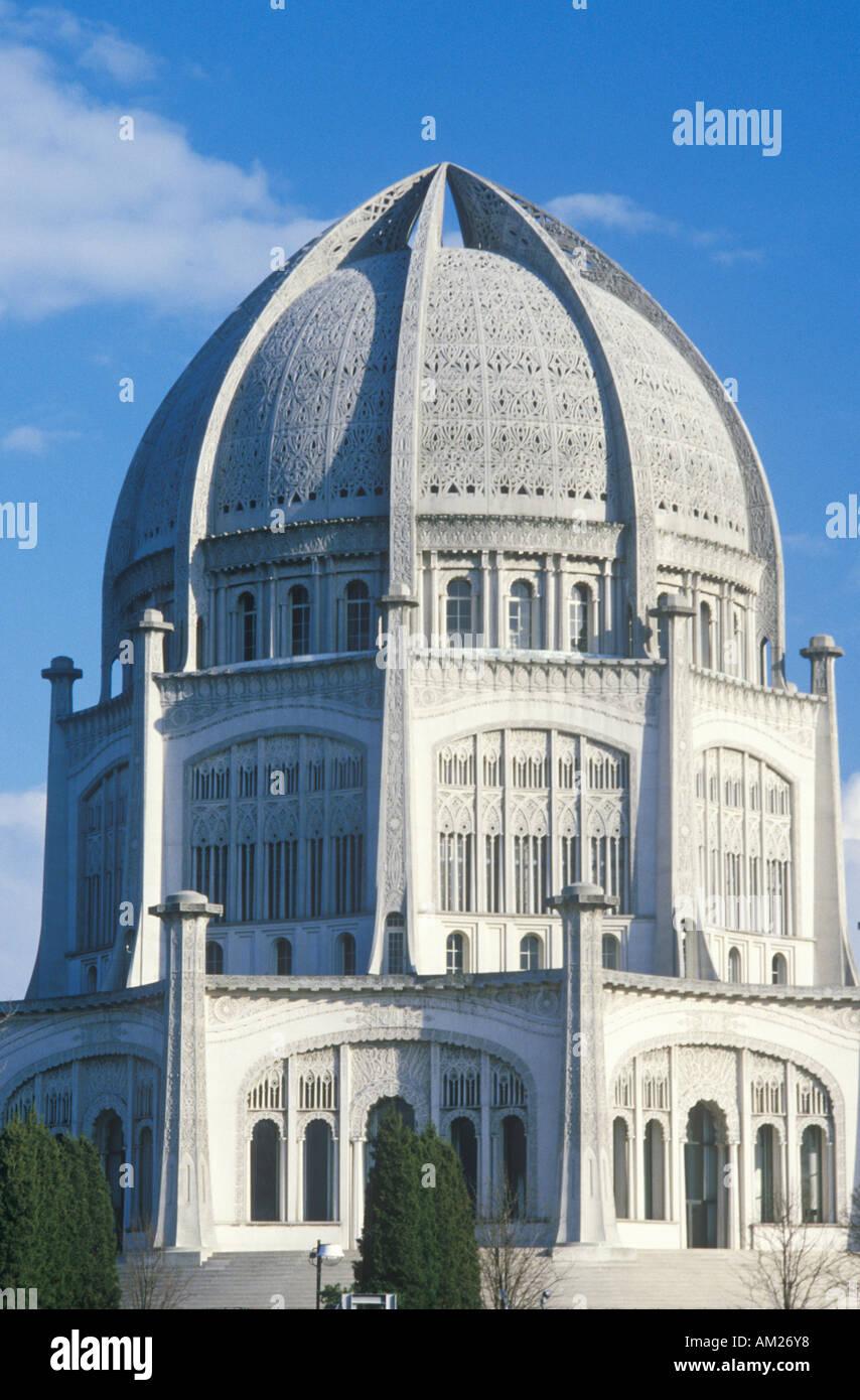 Die Bahai-Haus der Anbetung der östlichen Religionen in Wilmette, Illinois Stockbild