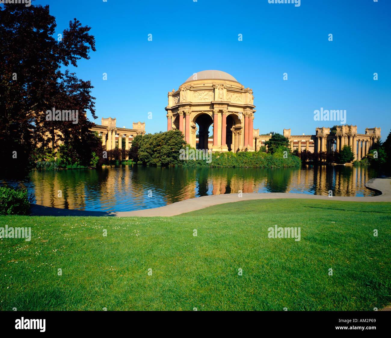 Palace of Fine Arts in San Francisco Kalifornien, USA Stockbild