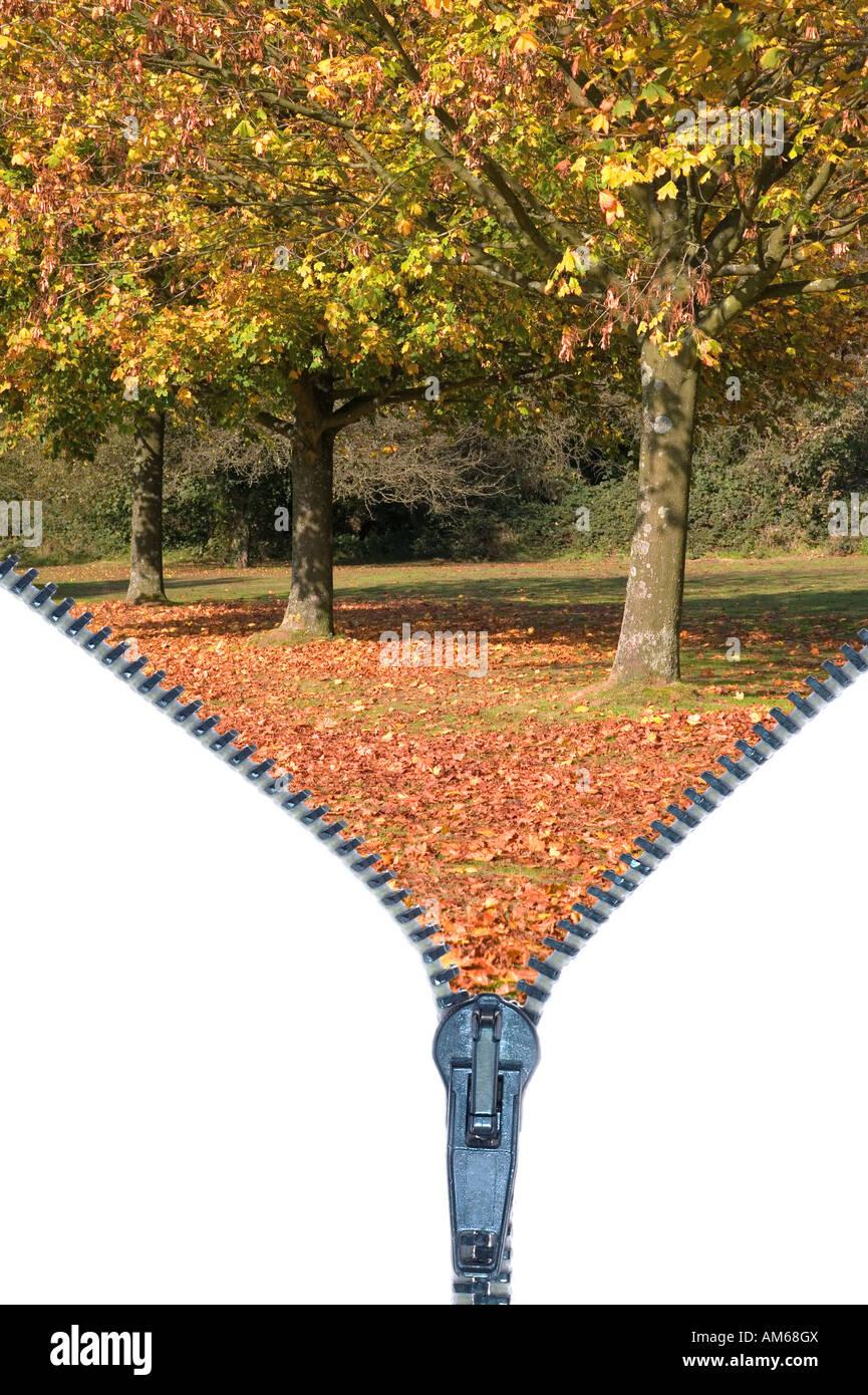 Konzept-Bild von der Eröffnung der neuen Saison Herbst Herbst Stockbild