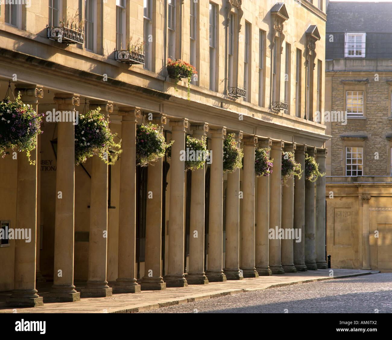 GB - SOMERSET: Bath Street Details in die Stadt Bath Stockbild