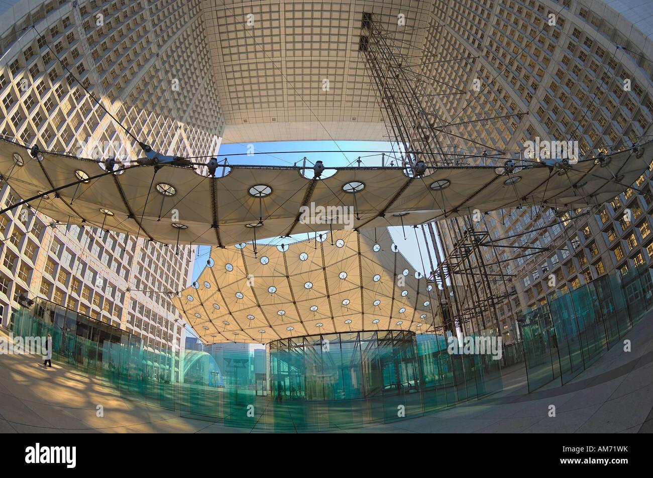 Die Grande Arche in La Défense, in der Arch, Paris Stockbild