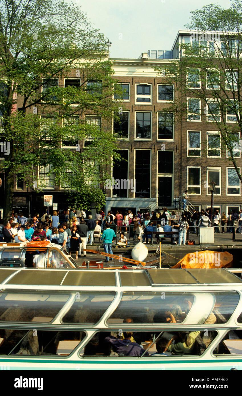 Stadt Amsterdam Anne-Frank-Haus jüdischen 2 Weltkrieg 1940 1945 Stockfoto