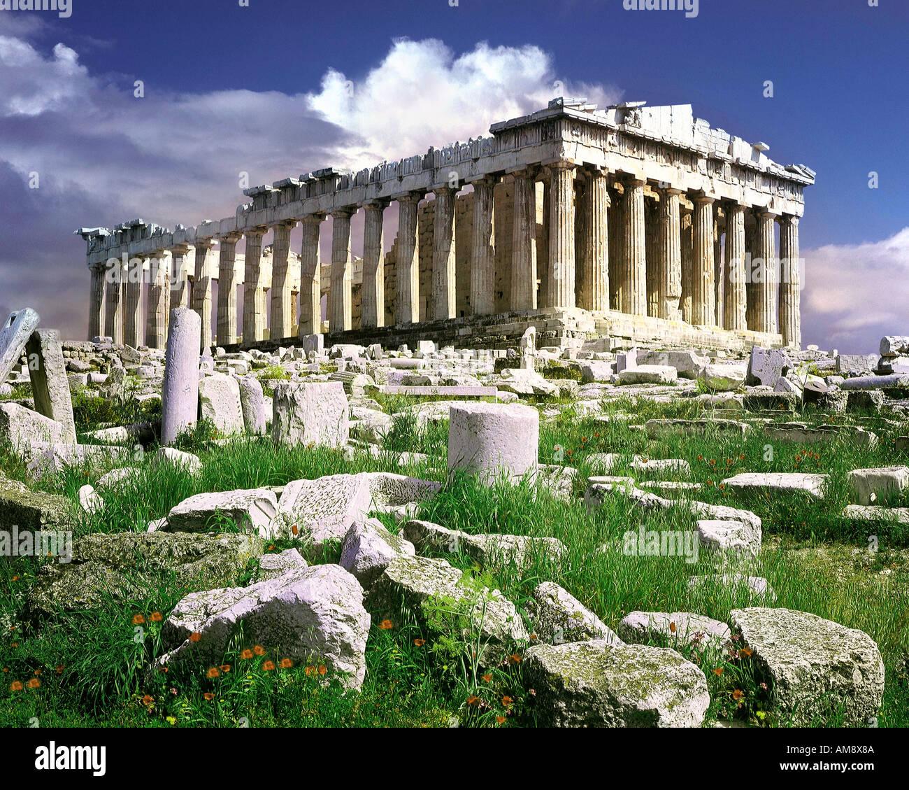 GR - Athen: Die Akropolis Stockbild