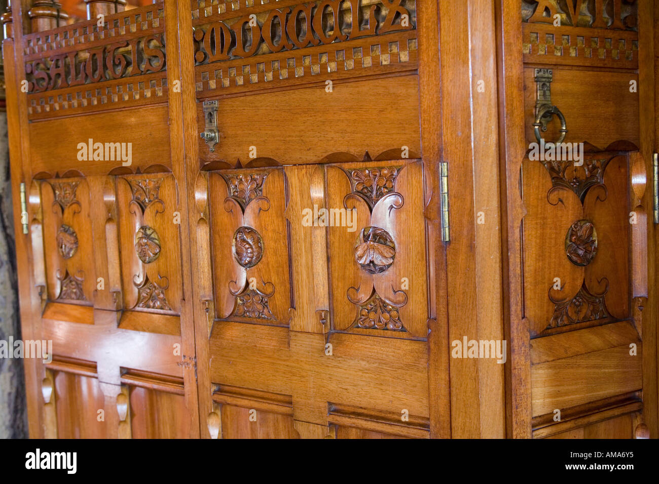 Wales Cardiff Cardiff Castle Herrn Butes Schlafzimmer William Burges ...