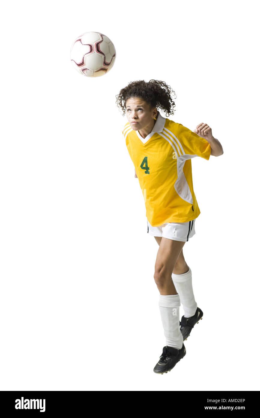 Teenager-Mädchen Rubrik Fußball Stockbild