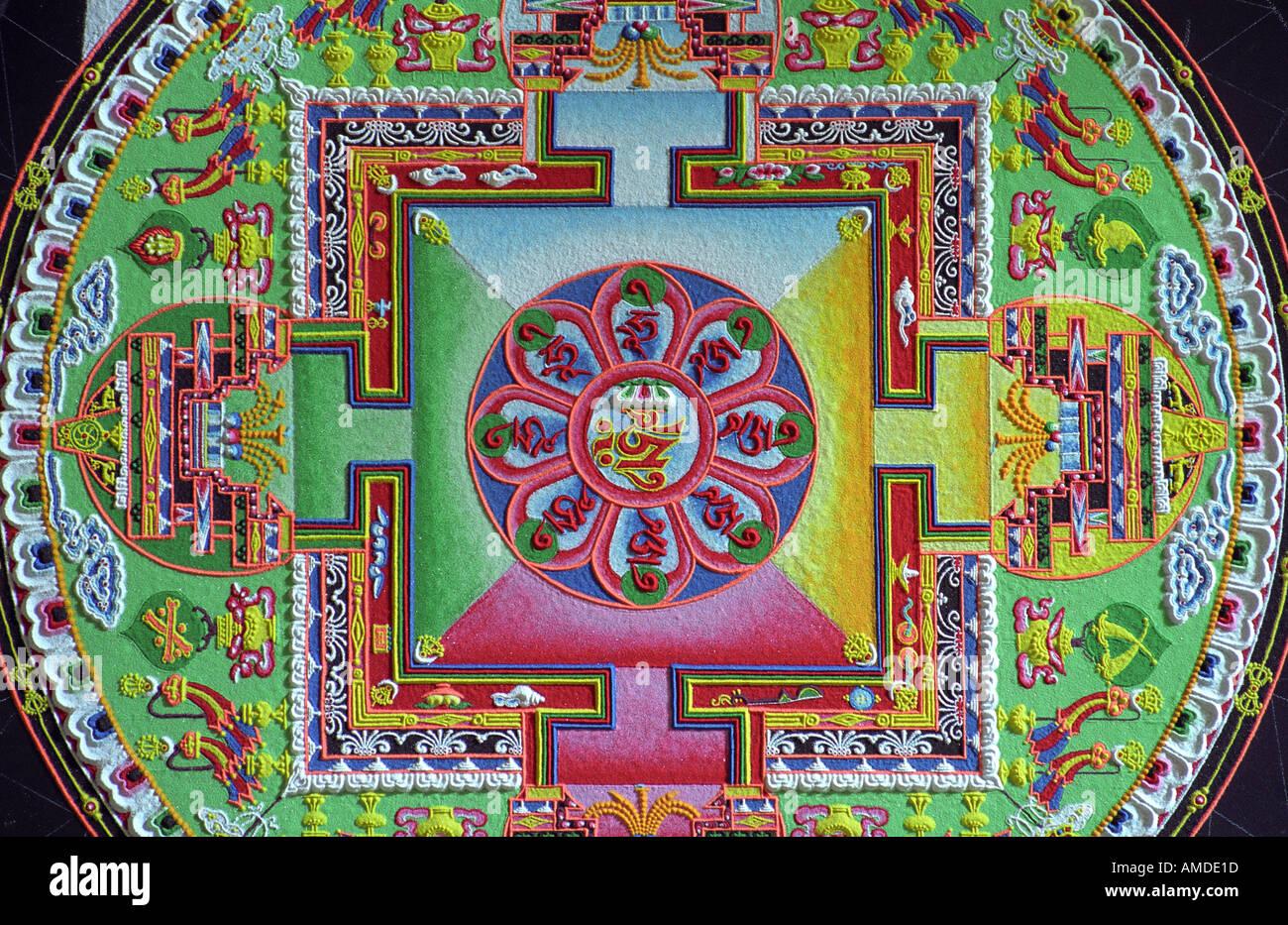Nahaufnahme eines abgeschlossenen mandala Stockbild