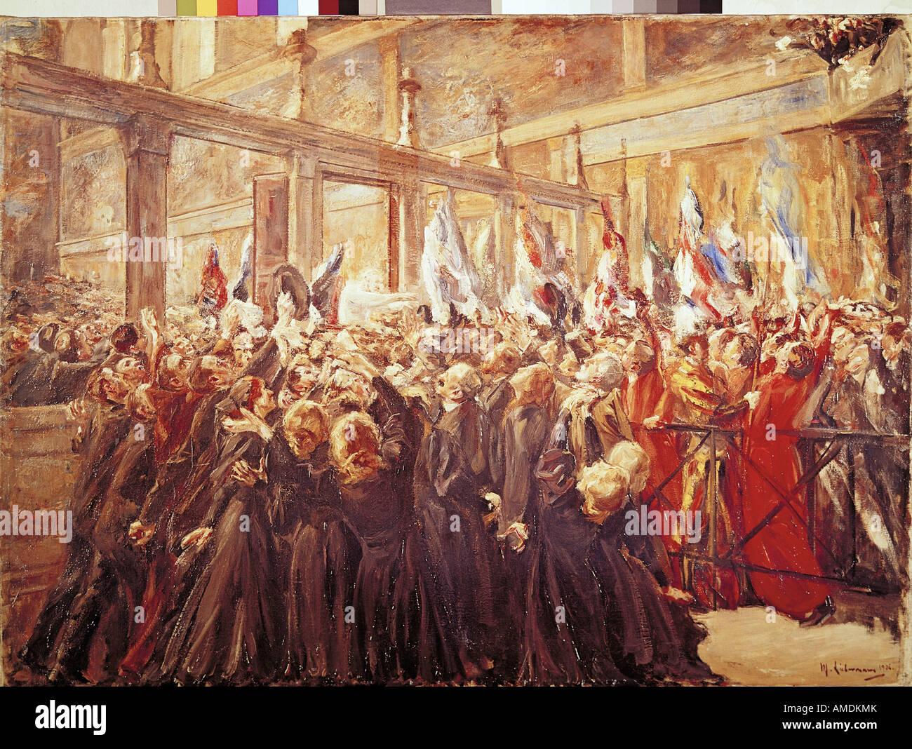 """Fine Arts, Liebermann, Max, (1847-1935), Malerei,"" Papst Leo XIII. in der Sixtinischen Kapelle "", ("" Papst Leo Stockfoto"