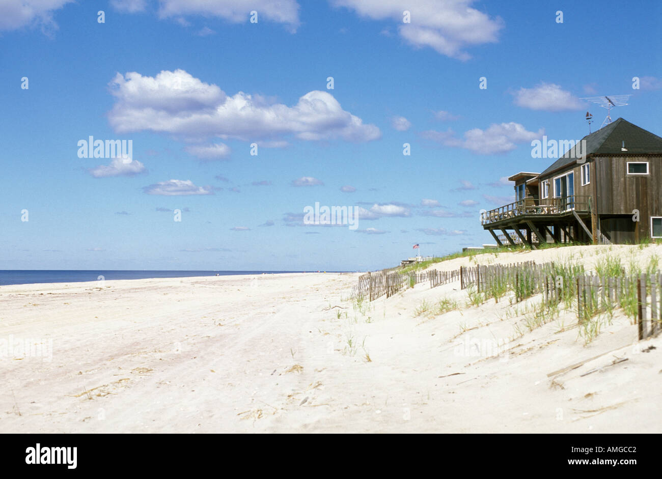 White Sand Beach Fire Island Long Island New York NY USA Stockfoto ...