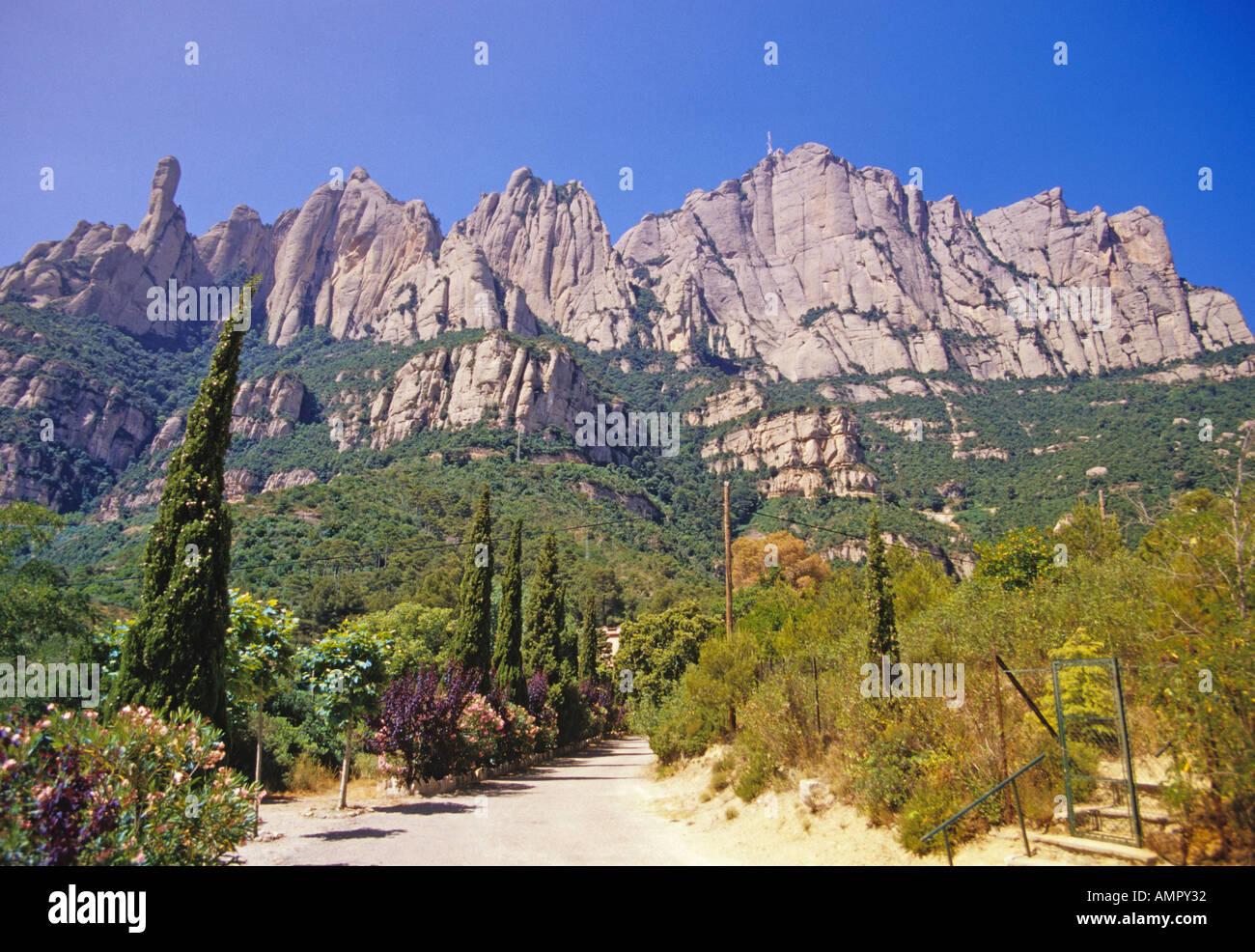 Montserrat, Katalonien, Spanien Stockbild