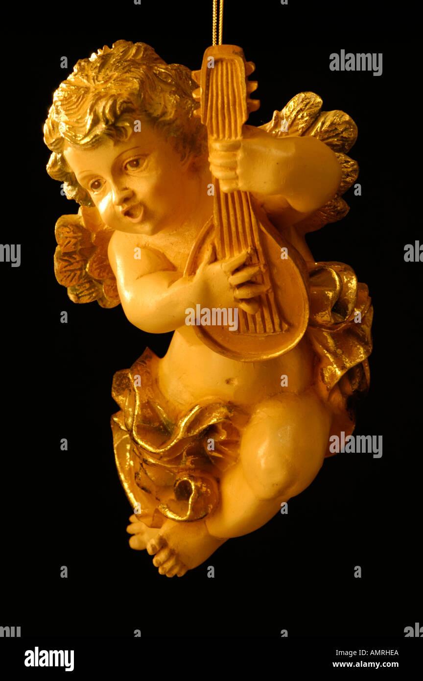 Engel Mit Violine Engel mit Geige Stockbild