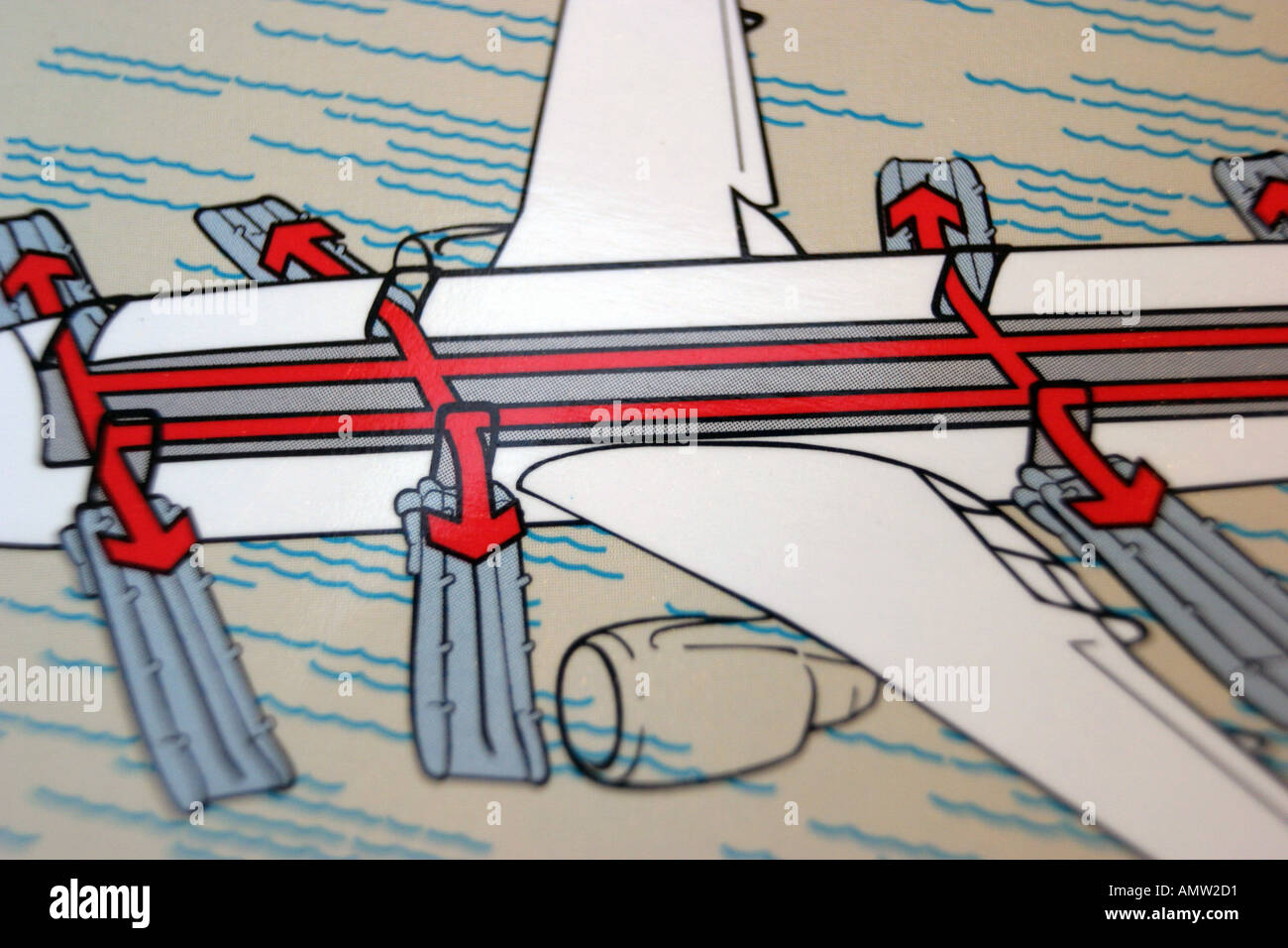 Emergency Exit Drawing Stockfotos & Emergency Exit Drawing Bilder ...
