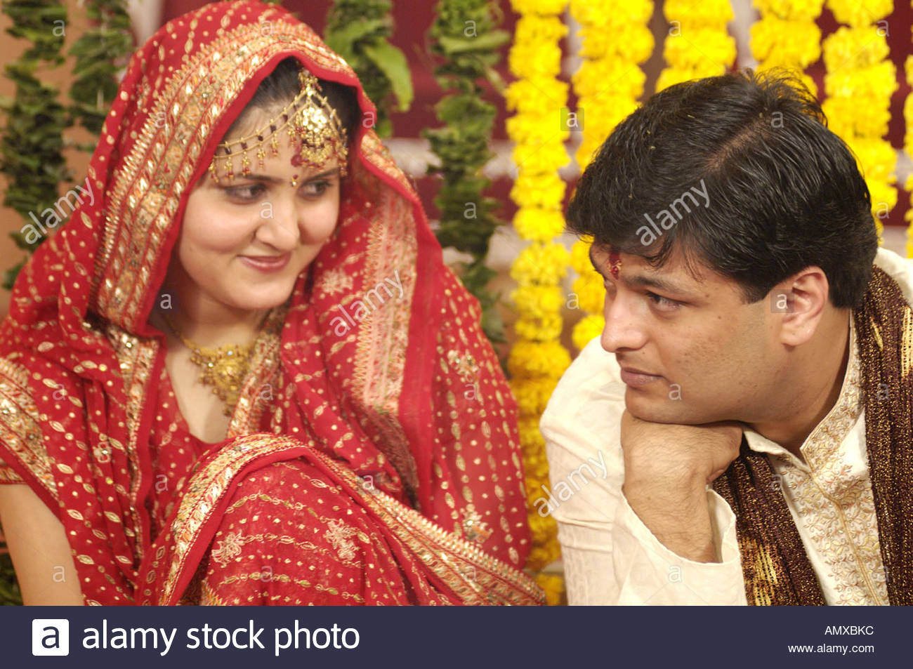 Mak100030 Braut Und Brautigam In Der Sudasiatischen Hinduistischen