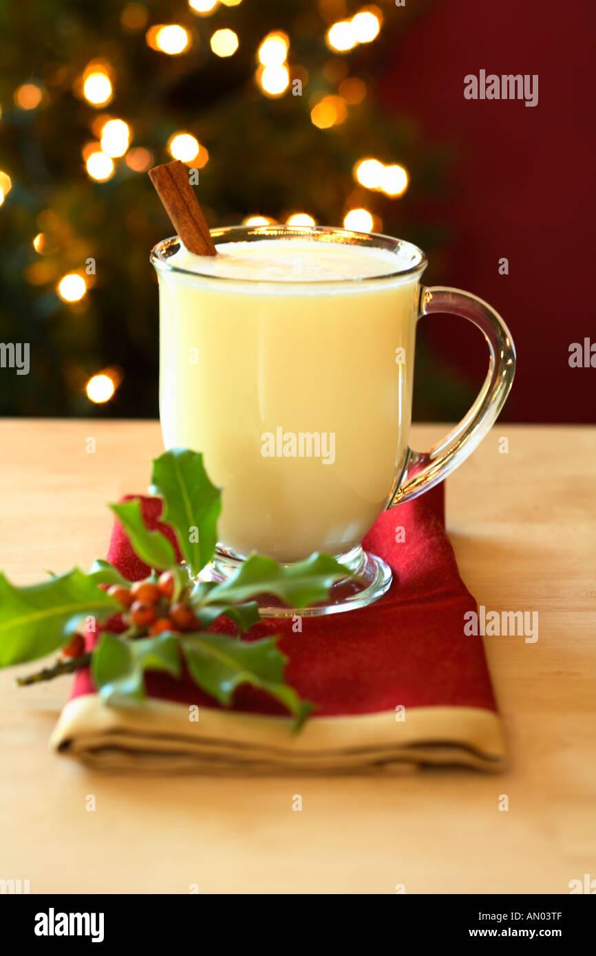 Festliche Weihnachten Eierlikör Stockbild