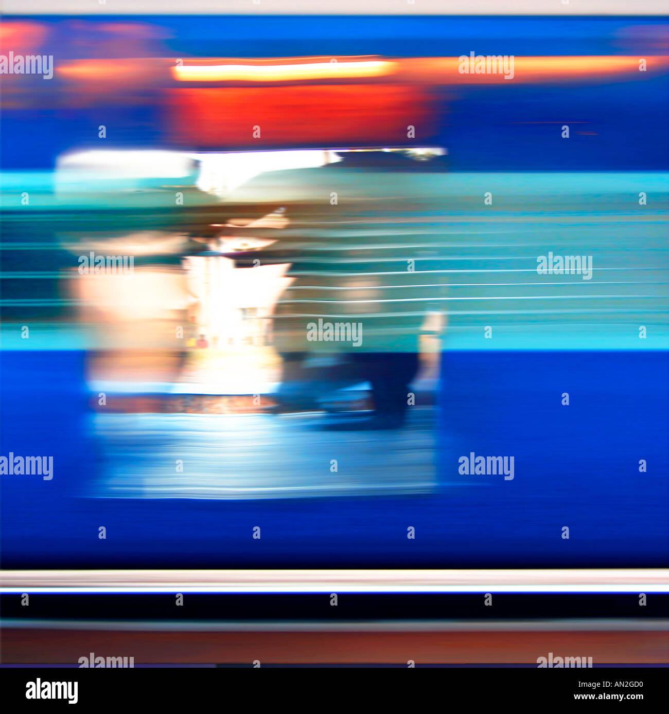 Zugfahrt Indien Yve Klein Blau Stockfoto