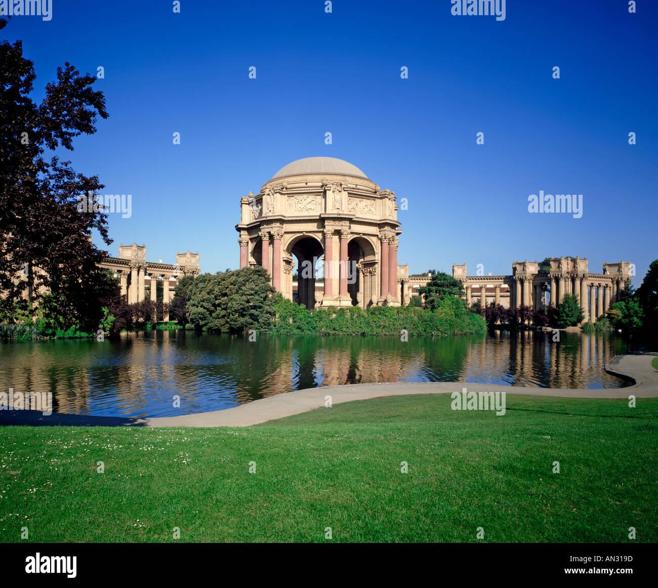 USA California San Francisco den Palace of Fine Arts Stockbild