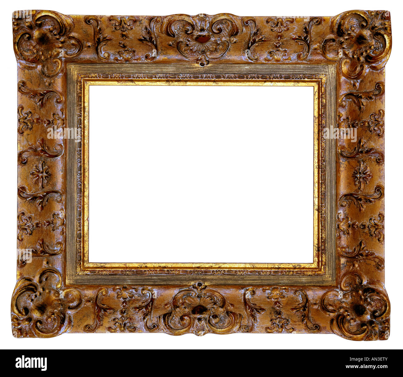 Square Gold Frame Cut Out Stockfotos & Square Gold Frame Cut Out ...