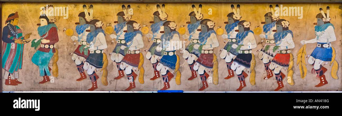 Yai Bi Choi Tanz Navajo Gemälde an Indian Store Albuquerque New Mexico USA Stockbild