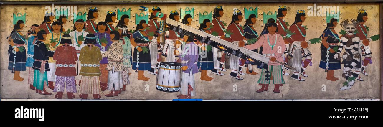 Navajo Gemälde an Indian Store Albuquerque New Mexico USA Stockbild